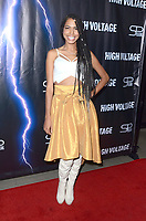 "LOS ANGELES - OCT 16:  Michelle Delamor at the ""High Voltage"" Los Angeles Red Carpet Premiere at the TCL Chinese 6 Theater on October 16, 2018 in Los Angeles, CA"
