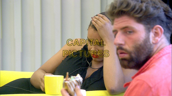 Celebrity Big Brother, Summer 2016, Day 30<br /> Lateysha and Sam.<br /> *Editorial Use Only*<br /> CAP/KFS<br /> Image supplied by Capital Pictures