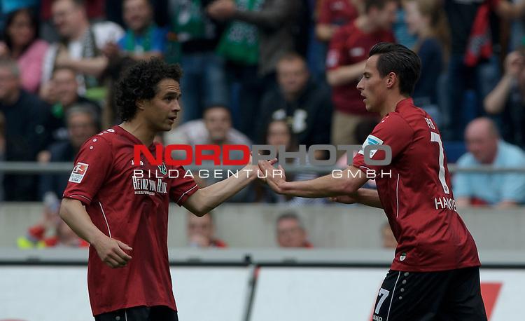 09.05.2015, HDI Arena, Hannover, GER, 1.FBL, Hannover 96 vs Werder Bremen, im Bild Jubel bei Hannover nach dem 1:0<br /> <br /> Foto &copy; nordphoto / Frisch