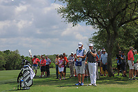 Zach Johnson (USA) looks over his second shot on 9 during round 1 of the Valero Texas Open, AT&amp;T Oaks Course, TPC San Antonio, San Antonio, Texas, USA. 4/20/2017.<br /> Picture: Golffile | Ken Murray<br /> <br /> <br /> All photo usage must carry mandatory copyright credit (&copy; Golffile | Ken Murray)