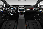 Stock photo of straight dashboard view of 2017 Lincoln MKZ Hybrid-Select 4 Door Sedan Dashboard