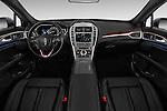 Stock photo of straight dashboard view of 2017 Lincoln MKZ Hybrid-Select 4 Door Sedan Dashboard