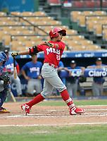 Eduardo Lopez participates in the MLB International Showcase at Estadio Quisqeya on February 22-23, 2017 in Santo Domingo, Dominican Republic.