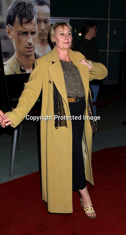 "©2002 KATHY HUTCHINS / HUTCHINS PHOTO. ""TO END ALL ALL WARS"" PREMIERE.SUNSET BLVD, CA. 12/05/02. MINK STOLE"