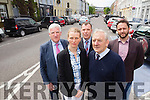 Tralee Traders who are not in favour of the new traffic  plan in Tralee town centre, from left: Sean Hussy, Heather O'Sullivan, Dick Boyle, Der O'Sullivan and Ronan Hurley.