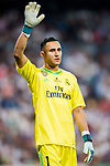 Goalkeeper Keylor Navas of Real Madrid reacts during their Supercopa de Espana Final 2nd Leg match between Real Madrid and FC Barcelona at the Estadio Santiago Bernabeu on 16 August 2017 in Madrid, Spain. Photo by Diego Gonzalez Souto / Power Sport Images