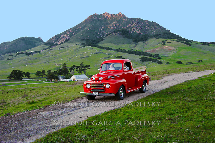 Driven the old red Ford Truck, San Luis Obispo, California
