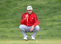 Jon Rahm (ESP) on the 18th green during Round 4 of the Open de Espana 2018 at Centro Nacional de Golf on Sunday 15th April 2018.<br /> Picture:  Thos Caffrey / www.golffile.ie<br /> <br /> All photo usage must carry mandatory copyright credit (&copy; Golffile   Thos Caffrey)