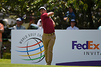 Thorbjorn Olesen (DEN) watches his tee shot on 13 during round 2 of the WGC FedEx St. Jude Invitational, TPC Southwind, Memphis, Tennessee, USA. 7/26/2019.<br /> Picture Ken Murray / Golffile.ie<br /> <br /> All photo usage must carry mandatory copyright credit (© Golffile | Ken Murray)