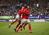 24th March 2018, The Valley, London, England;  English Football League One, Charlton Athletic versus Plymouth Argyle; Lewis Page of Charlton Athletic celebrates with Joe Aribo of Charlton Athletic after scoring his sides 1st goal in the 3rd minute to make it 1-0