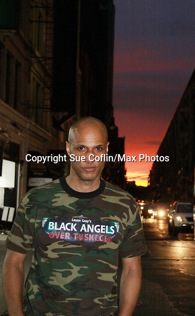 Thomas Scott II (Layon Gray's Black Angels Over Tuskegee) came on September 15, 2011 to the Drama Book Shop, New York City, New York. (Photo by Sue Coflin/Max Photos)