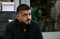 Calcio, Serie A: Inter Milano - AC Milan , Giuseppe Meazza stadium, .October 21, 2018.<br /> Milan's coach Gennaro Gattuso prior to the start of the Italian Serie A football match between Inter and Milan at Giuseppe Meazza (San Siro) stadium, October 21, 2018.<br /> UPDATE IMAGES PRESS/Isabella Bonotto