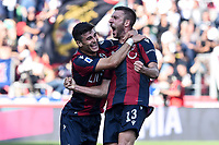 Mattia Bani of Bologna celebrates after scoring a goal <br /> Bologna 27/10/2019 Stadio Renato Dall'Ara <br /> Football Serie A 2019/2020 <br /> Bologna FC - Sampdoria UC<br /> Photo Daniele Buffa / Image Sport / Insidefoto