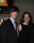 """As The World Turns Margaret Colin poses with son Joe as she stars in  """"Arcadia"""" - Broadway Opening Night on March 17, 2011 at the Ethel Barrymore Theatre, New York City, New York.  Arrivals, Curtain Call and Party after at Gotham Hall. (Photo by Sue Coflin/Max Photos)"""