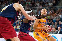 Herbalife Gran Canaria's player Albert Oliver and FC Barcelona Lassa player Ante Tomic and Tyrese Rice during the final of Supercopa of Liga Endesa Madrid. September 24, Spain. 2016. (ALTERPHOTOS/BorjaB.Hojas) NORTEPHOTO.COM