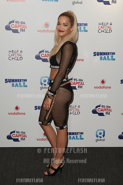 Rita Ora at the Capital Radio Summertime Ball<br /> Wembley Stadium London. 21/06/2014 Picture by: Dave Norton / Featureflash