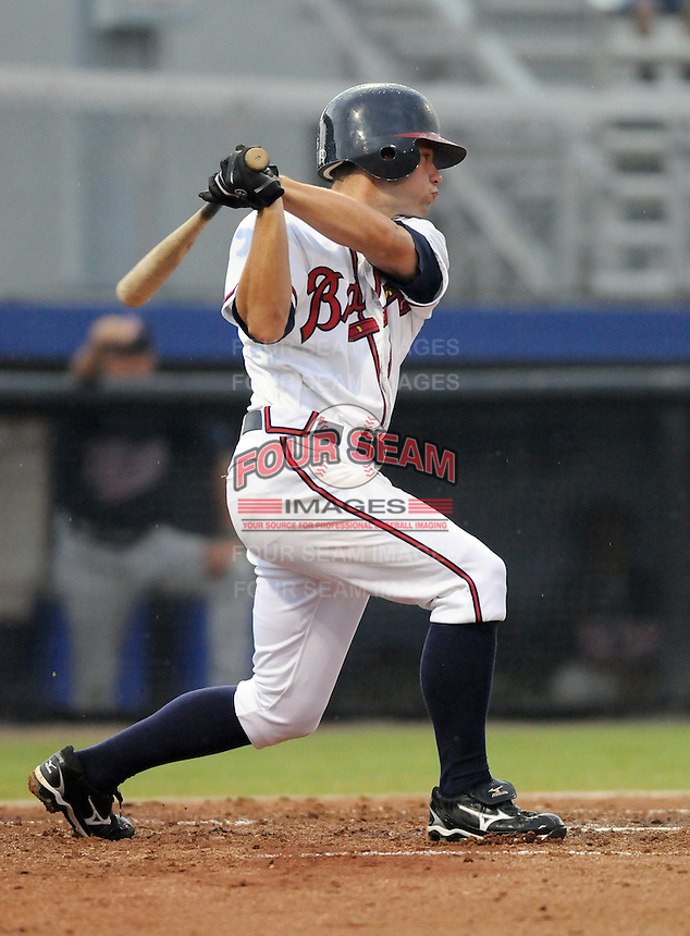 July 15, 2009: Infielder Travis Adair (5) of the Danville Braves, rookie Appalachian League affiliate of the Atlanta Braves, in a game at Dan Daniel Memorial Park in Danville, Va. Photo by:  Tom Priddy/Four Seam Images