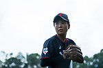#49 Odajima Mami of Japan warming up during the BFA Women's Baseball Asian Cup match between Pakistan and Japan at Sai Tso Wan Recreation Ground on September 4, 2017 in Hong Kong. Photo by Marcio Rodrigo Machado / Power Sport Images