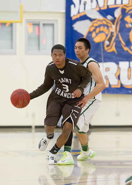 Leigh HS vs St. Francis HS at Santa Clara HS in the CCS Division II semi-finals.  Feb. 26, 2013.  St. Francis wins ....