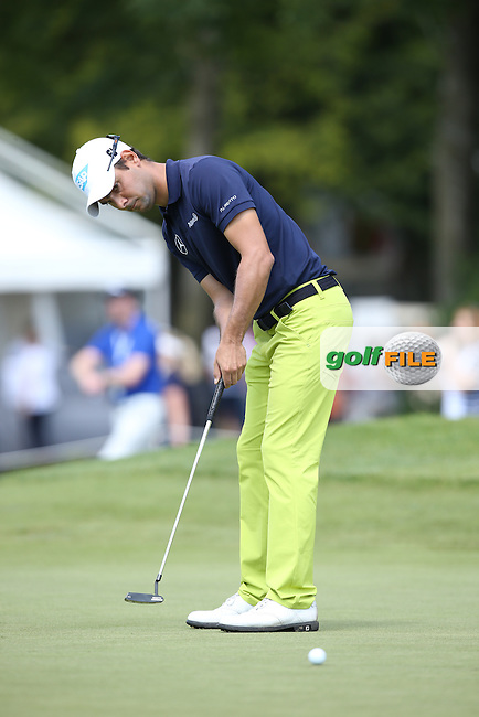 Moritz Lampert (GER) disgusted at missing his putt on the 9th during Round Two of the 2015 BMW International Open at Golfclub Munchen Eichenried, Eichenried, Munich, Germany. 26/06/2015. Picture David Lloyd | www.golffile.ie