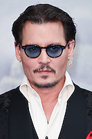 "Johnny Depp<br /> at the premiere of ""Alice Through the Looking Glass"" held at the Odeon Leicester Square, London<br /> <br /> <br /> ©Ash Knotek  D3117  10/05/2016"