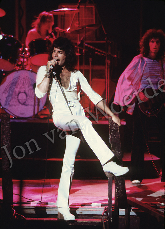 Freddie Mercury with Queen in concert