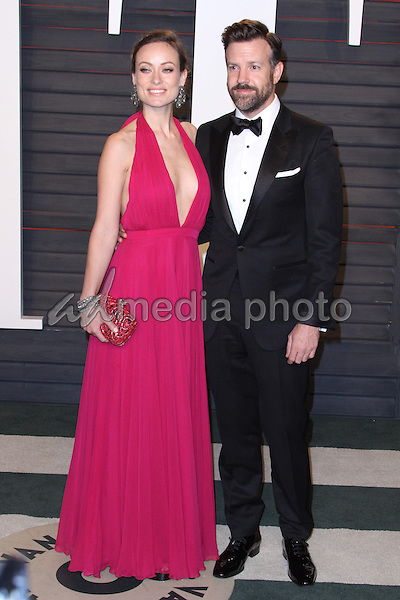28 February 2016 - Beverly Hills, California - Olivia Wilde, Jason Sudeikis. 2016 Vanity Fair Oscar Party hosted by Graydon Carter following the 88th Academy Awards held at the Wallis Annenberg Center for the Performing Arts. Photo Credit: AdMedia