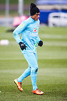 LONDRES, INGLATERRA, 05 FEVEREIRO 2013 - TREINO SELECAO BRASILEIRA -  O jogador Neymar durante treino da seleção brasileira de futebol em um dos campos do The Hive Football Centre na tarde desta terça-feira, 05. Amanha a seleção brasileira enfreta a selecao inglesa em amistoso internacional. (FOTO: GUILHERME ALMEIDA / BRAZIL PHOTO PRESS).