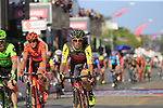 Riders cross the finish line in Tortoli at the end of Stage 2 of the 100th edition of the Giro d'Italia 2017, running 221km from Olbia to Tortoli, Sardinia, Italy. 6th May 2017.<br /> Picture: Eoin Clarke | Cyclefile<br /> <br /> <br /> All photos usage must carry mandatory copyright credit (&copy; Cyclefile | Eoin Clarke)