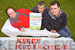 Caroline McCannon, Niall Groves and Sean Joy from Kerry Macra na Feirme preparing for their charlty bedpush from Killarney to Tralee on May 19th.