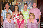Enjoying the Manor Inn 1st anniversary celebrations on Saturday night was front row l-r: Kathleen O'Donoghue Milltown Kathleen Moriarty, Eileen Horgan Killarney. Back row: Terry, Helena Flynn Killorglin, Margaret and John Walsh Glenbeigh
