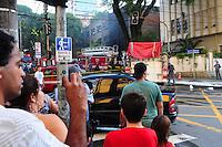 SÃO PAULO, SP, 03 DE JANEIRO 2012 - INCENDIO HOSPITAL - Incendio no velorio do Hospital São Paulo com 17 viaturas sem vitimas, na tarde dessa terça-feira, 03 na região sul da capital paulista. FOTO: ADRIANO LIMA - NEWS FREE.