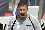11 July 2009: Kansas City goalkeeper coach John Pascarella. The New England Revolution played the Kansas City Wizards to a 0-0 tie at Gillette Stadium in Foxboro, Massachusetts in a regular season Major League Soccer game.