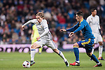 Luka Modric of Real Madrid competes for the ball with Pedro Pablo Hernandez of RC Celta de Vigo during their Copa del Rey 2016-17 Quarter-final match between Real Madrid and Celta de Vigo at the Santiago Bernabéu Stadium on 18 January 2017 in Madrid, Spain. Photo by Diego Gonzalez Souto / Power Sport Images