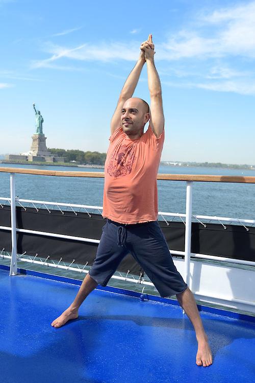 Marketing photo for a yoga cruise.