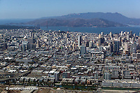 Aerial photograph SOMA San Francisco California