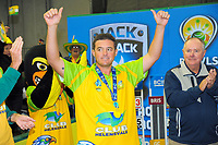 MVP Aron Sherriff after the Bowls Premier League final between the Gold Coast Hawks and Brisbane Pirates at Naenae Bowling Club in Wellington, New Zealand on Thursday, 26 April 2018. Photo: Dave Lintott / lintottphoto.co.nz