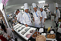 (L to R) Akira Hattori one of the gelato artisans chefs pose for a picture with his staff during the Gelato World Tour on September 5, 2015, Tokyo, Japan. Over 3 days visitors to the Tokyo event can taste 16 flavours of gelato and will chose the top three flavours to represent the Far East Asia region at the Grand Finale of Gelato World Tour 2.0 to be held in Rimini, Italy in 2017. (Photo by Rodrigo Reyes Marin/AFLO)