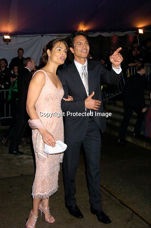 Benjamin Bratt and wife Talisa Soto ..at The Costume Institute Gala of the Metropolitan Museum of Art on april 26, 2004 ...Photo by Robin Platzer, Twin Images