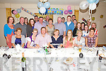 Jerdie & Cathy 'Gabha' O'Sullivan (seated 3rd & 4th from the left) from Cloghanelinaghan, Cahersiveen celebrated their 50th birthdays with family at the Ring of Kerry Hotel on Friday night last.
