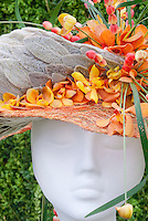 Hats Made from Orchid Flowers & Plants design by Neil Whittaker, RHS Chelsea Florist of the Year, Mokara orchids