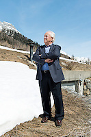 Switzerland, Ticino, Valle Bedretto; All'Acqua; Sindaco Diego Orelli; Mayor of Bedretto