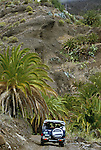 Four wheel drive on country track.La Gomera Canary Islands.