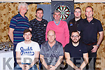 The Shire team that played the  Tatler Jack in the Killarney towns league final in the Avenue Hotel on Saturday night front row l-r: Philip Kelly, John Cronin, Dale McCarthy. Back row: Kieran Breen, Paul Kelly, Tim Kelly, Paraic Mahony, Matt Lacey