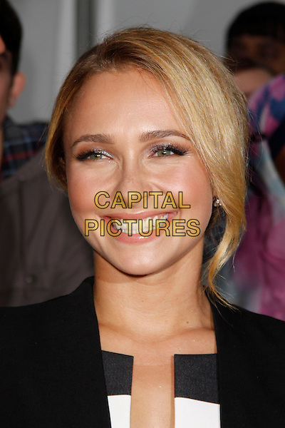 Hayden Panettiere<br /> Glamour Women Of The Year Awards, Berkeley Square Gardens, London, England. <br /> 4th June, 2013<br /> headshot portrait white black smiling<br /> CAP/AH<br /> &copy;Adam Houghton/Capital Pictures