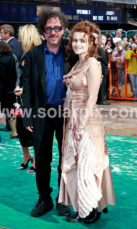 **ALL ROUND PICTURES FROM SOLARPIX.COM**.**WORLDWIDE SYNDICATION RIGHTS**.Tim Burton and Helena Bonham Carter.UK Premiere of Harry Potter and the Order of the Phoenix at the Odeon Leicester Sq in Londons West End..JOB REF:  4211   SSD     DATE: 03.07.07.**MUST CREDIT SOLARPIX.COM OR DOUBLE FEE WILL BE CHARGED* *UNDER NO CIRCUMSTANCES IS THIS IMAGE TO BE REPRODUCED FOR ANY ONLINE EDITION WITHOUT PRIOR PERMISSION*