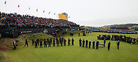 Scenes at the 18th ceremony; Shane Lowry (IRL) wins the Final Round of the 148th Open Championship, Royal Portrush Golf Club, Portrush, Antrim, Northern Ireland. 21/07/2019. Picture David Lloyd / Golffile.ie<br /> <br /> All photo usage must carry mandatory copyright credit (© Golffile | David Lloyd)