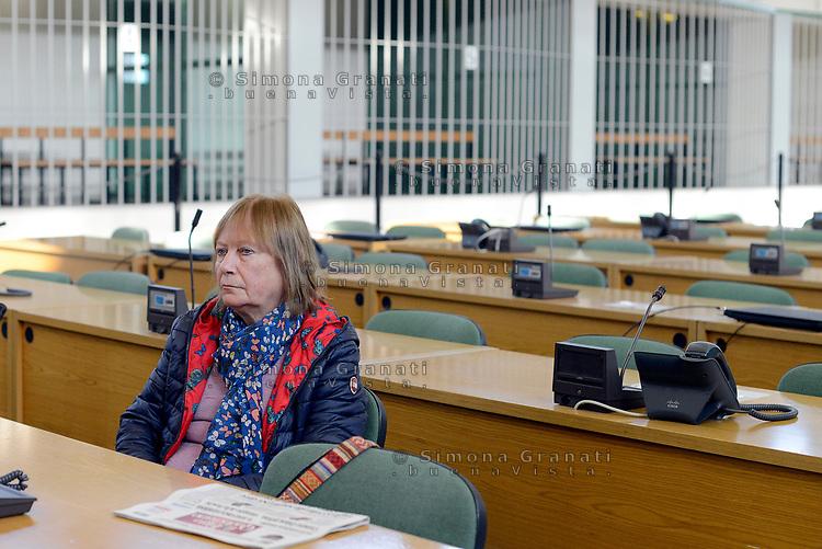 Roma, 20 Ottobre 2017<br /> Rita Calore,mamma di Stefano Cucchi.<br /> Aula Bunker di Rebibbia<br /> Seconda udienza udienza del nuovo processo per la morte di Stefano Cucchi che vede imputati 5 Carabinieri.<br /> Il nuovo processo è stato rinviato al 16  Novembre  alla Prima Corte D'Assise dopo che la presidente della Terza Corte d'Assise si è astenuta per incompatibilità, visto che era stata già giudice del primo processo per la morte del giovane.