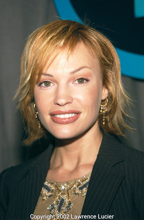 "Actress Jolene Blalock arrives at the announcement of UPN's  2002-2003 primetime schedule of series May 16, 2002 in New York City. UPN will introduce four new series: ""Half and Half,"" ""Haunted,"" ""The Twilight Zone,"" and ""Abby."""