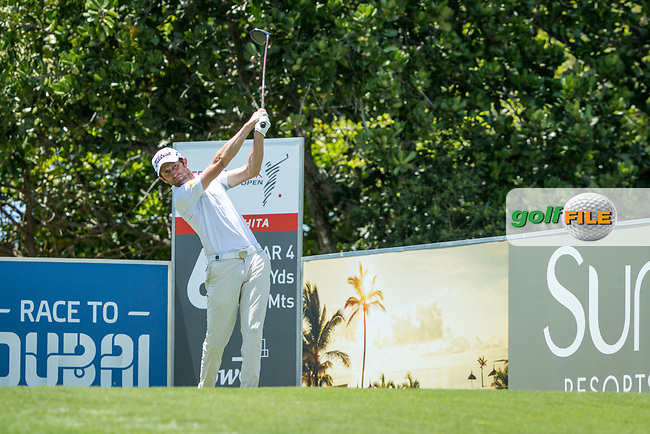 Gregory Bourdy (FRA) during the 2nd round of the AfrAsia Bank Mauritius Open, Four Seasons Golf Club Mauritius at Anahita, Beau Champ, Mauritius. 30/11/2018<br /> Picture: Golffile | Mark Sampson<br /> <br /> <br /> All photo usage must carry mandatory copyright credit (&copy; Golffile | Mark Sampson)